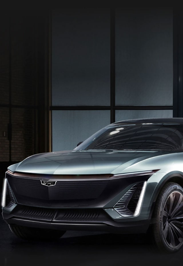 Cadillac EV Electric Vehicle Front Side Exterior